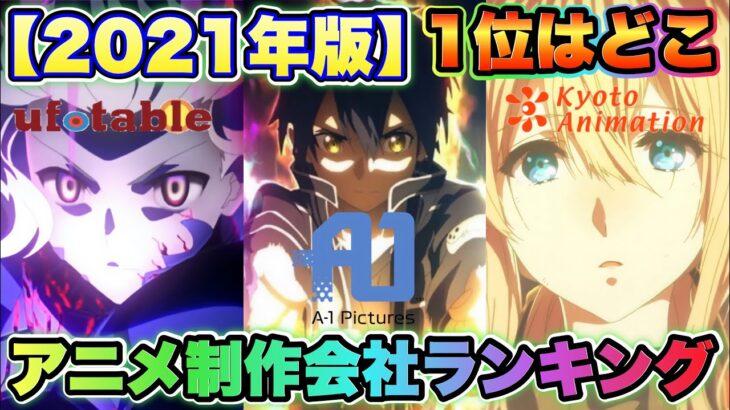 【アニメ制作会社人気ランキング】TOP15を発表!『神作画で有名なあの会社が1位です!』