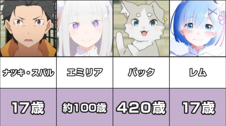 【リゼロ】キャラクター年齢まとめてみた【Re:ゼロから始める異世界生活】